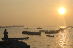Sun rise at Pari Island, Thousand Island