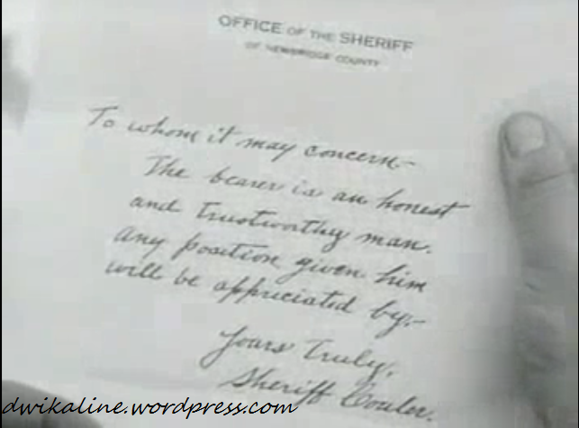 Surat Rekomendasi Sheriff